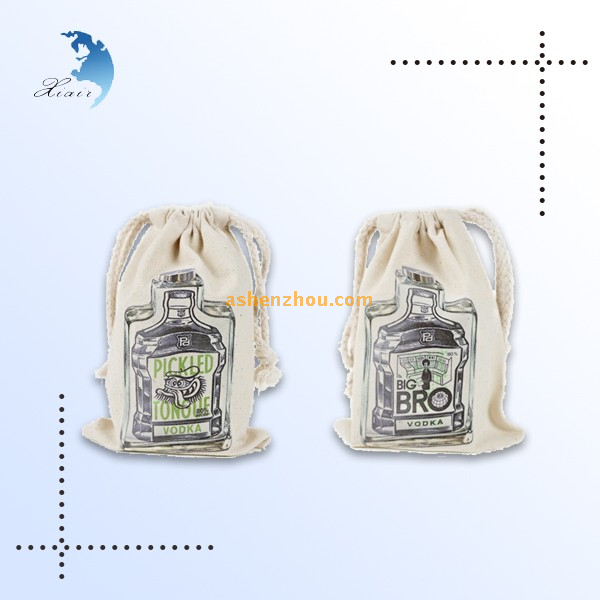 Top quality new fashion custom personalized natural cotton material muslin drawstring gift pouches bulk