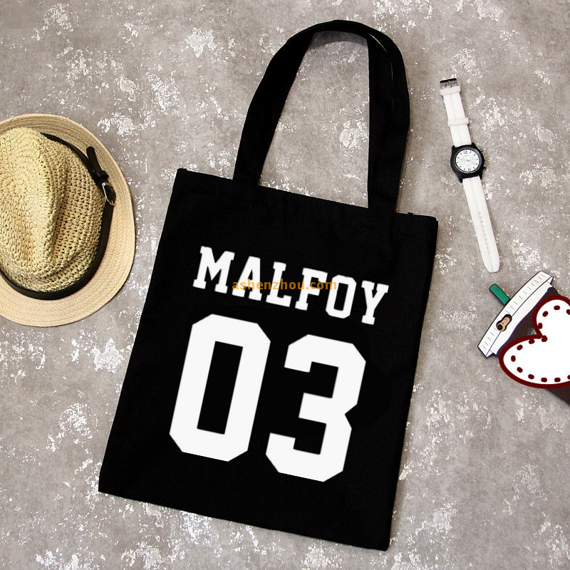 Factory price wholesale custom black promotional shopping cotton canvas bags printing personalized tote bags MOQ 500