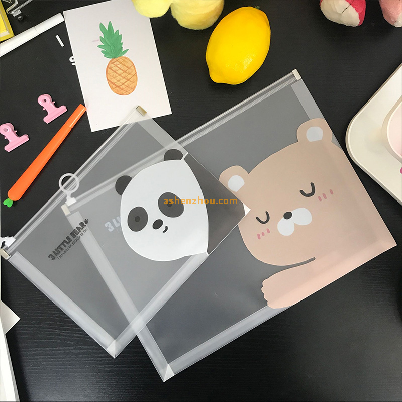 SHENZHOU goods high quality custom office storage water resistant A4 size frosted plastic pp file document folder bags