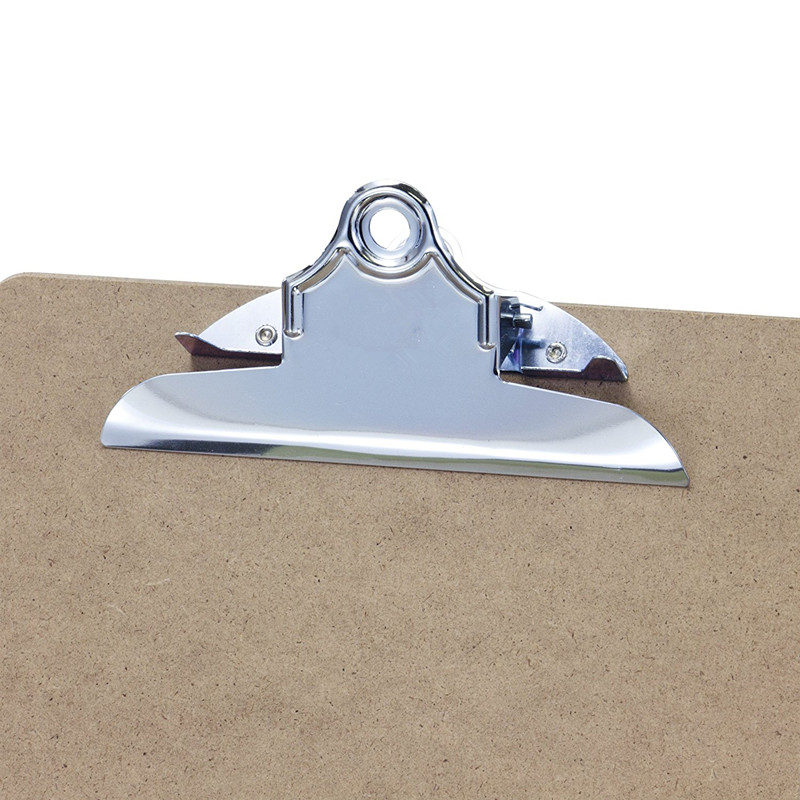 Made in China hot sale promotional custom recycled Letter Size durable Clipboard Standard Clip 9'' x 12.5''heavy duty storage Hardboard