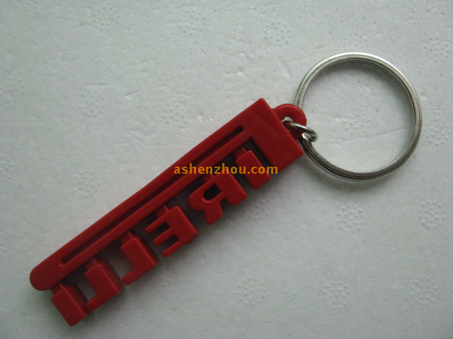 SHENZHOU key ring manufacturer wholesale manufacture customizable PVC material keychains with logo