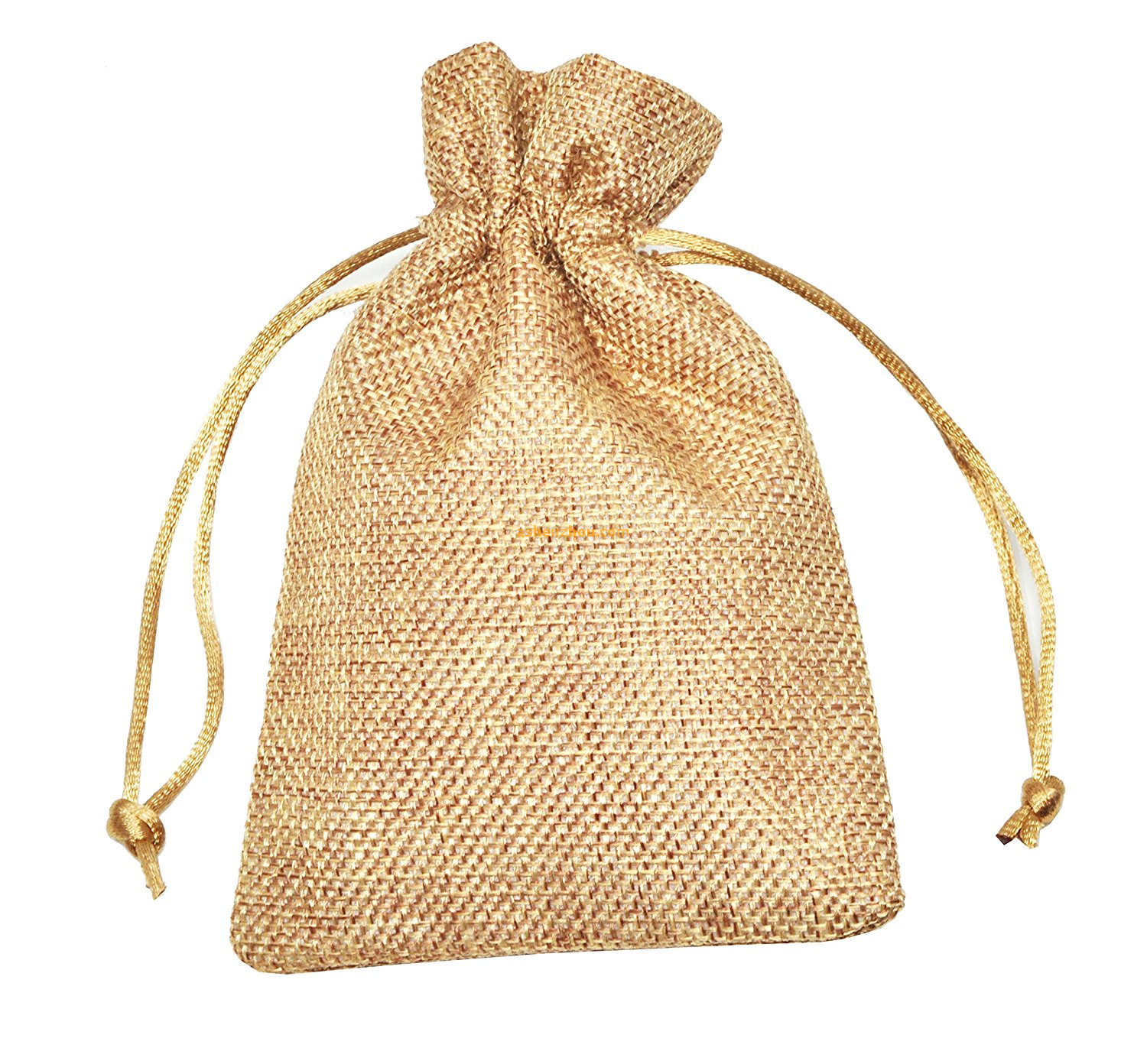 China factory wholesale price promotiona cheap jute bags burlap tote drawstring bags with handles for promotional