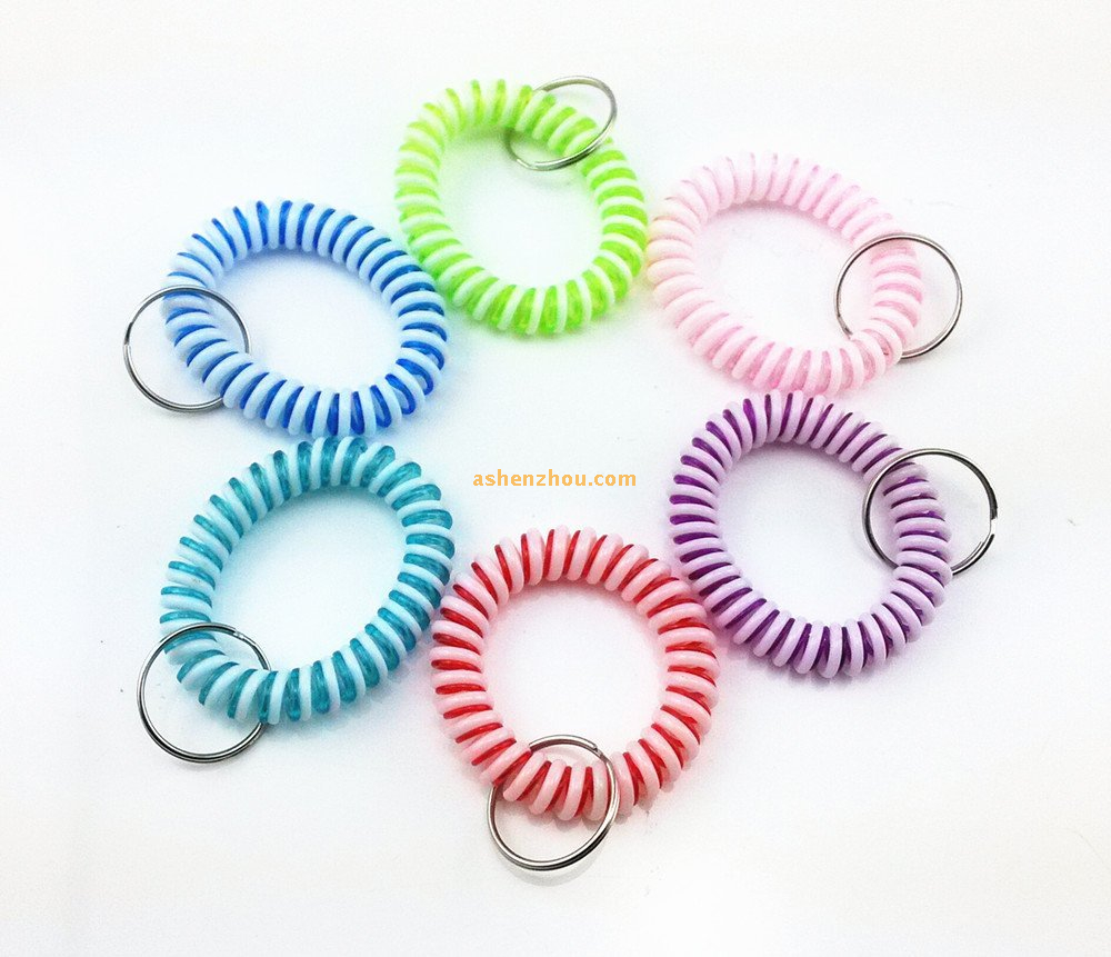 SHENZHOU keychain maker Promotional High Quality PVC amazing wrist coil key chains in bulk
