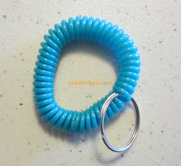Factory wholesale custom high quality Logo Printed colorful Silicone wrist keychains online shopping for coil key chains supplies