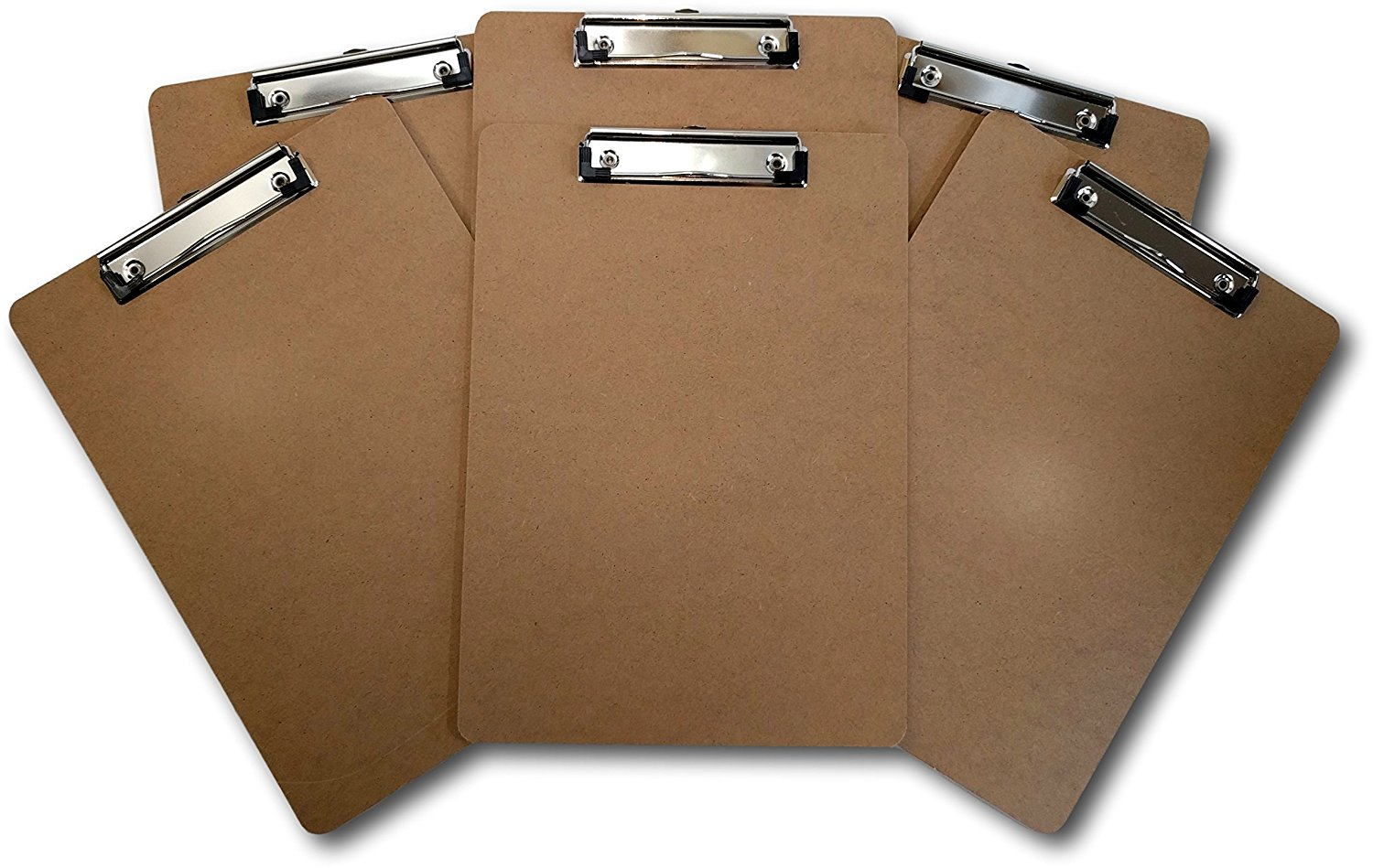 Hot Sale popular high quality custom various design Letter Size Clipboard Standard Clip 9'' x 12.5'' Hardboard (Pack of 6)