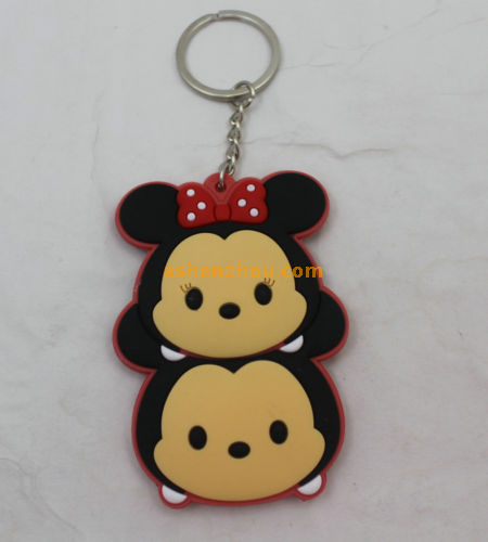 Creative Fashion PVC material cute girly keychains Animal Key Chain for Women Bag Phone Charms keyrings for women