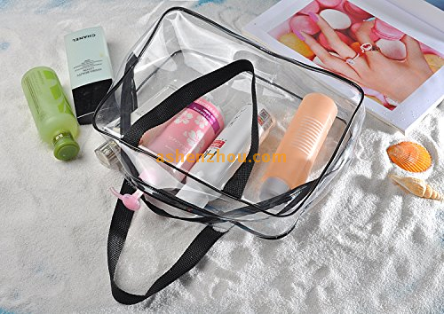Best product wholesale promotion custom PVC material transparent travelling ladies tote case bags