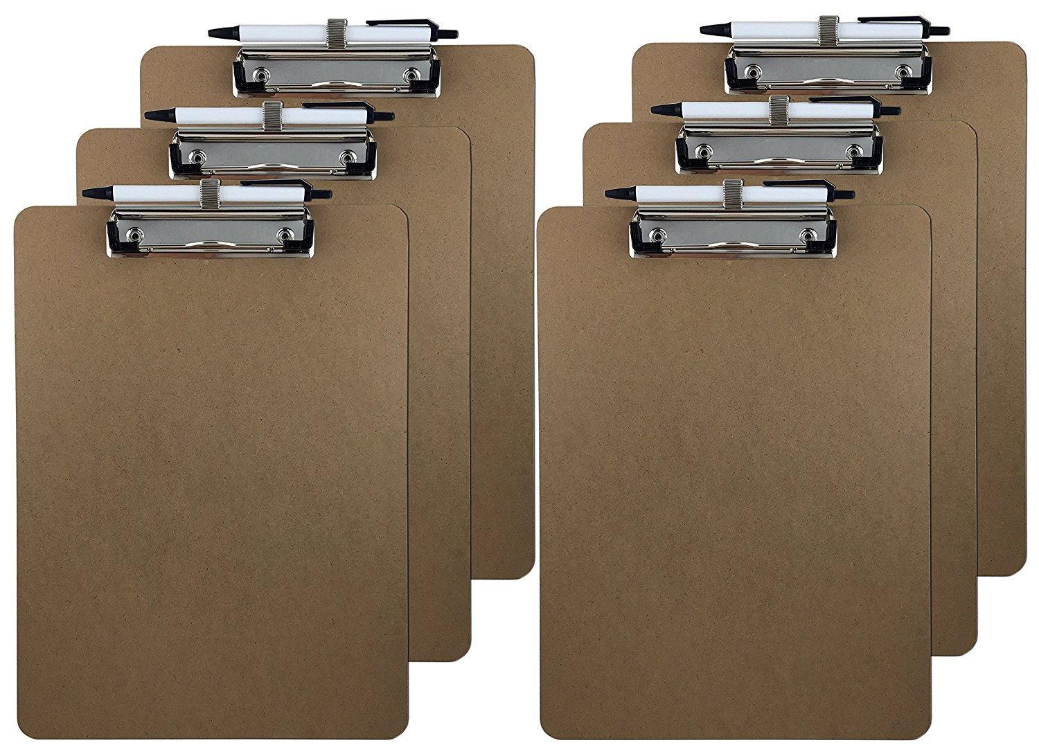Most popular cheap personalized design durable clipboard folder, standard wooden hardboard size with pen holder