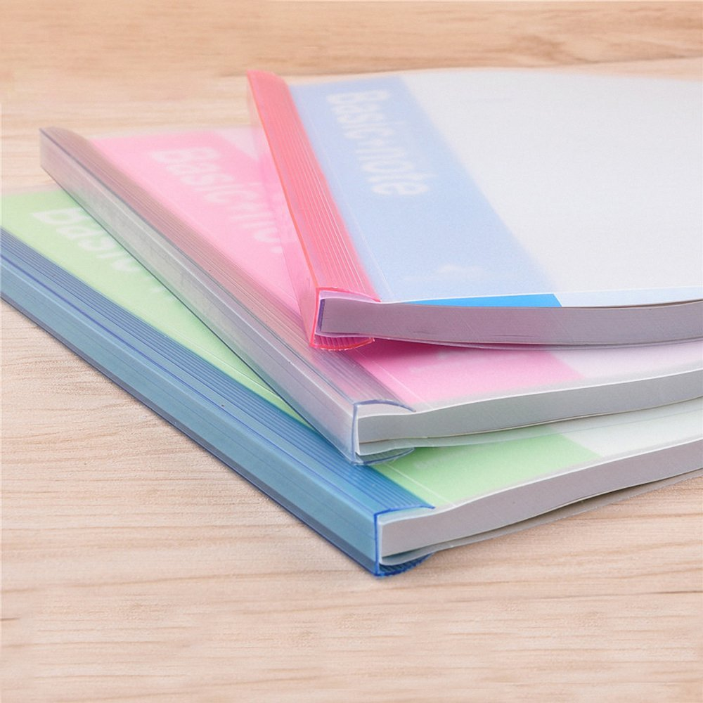 High quality wholesale custom office report cover file folder A4 clear pvc slide bars slide binder