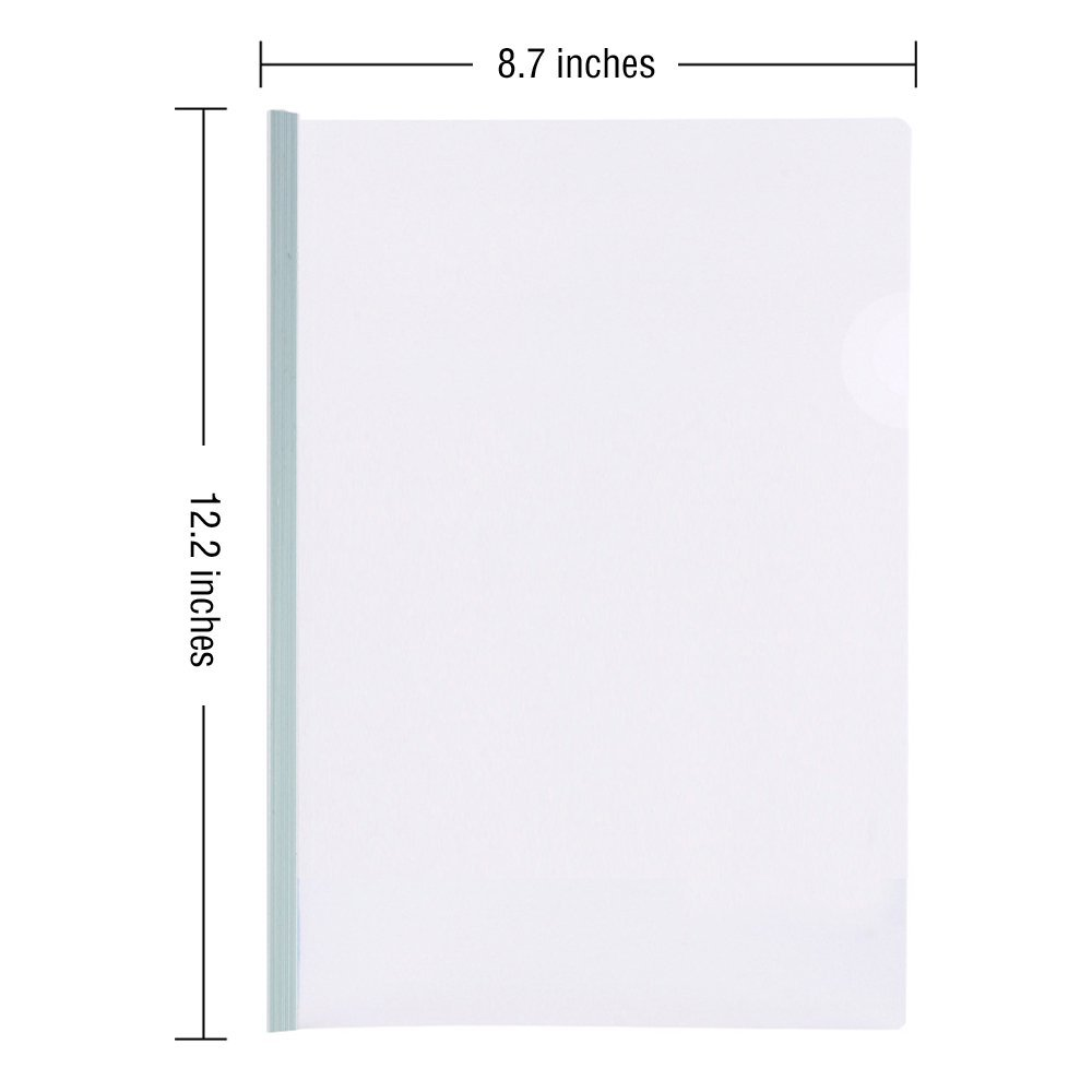 Good quality custom office school stationery A4 clear file folder spine bar slide binder transparent plastic report covers