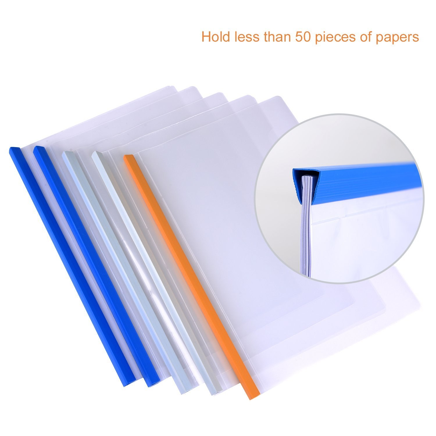 China wholesale custom colorful A4 size clear document folder pvc slide bar plastic file binders