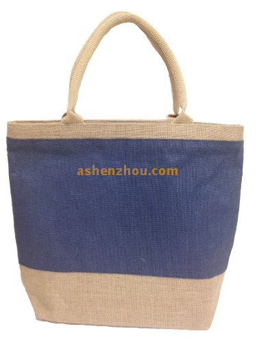 Fashion style wholesale custom personalized recycled large burlap grocery tote bags with handle wholesale