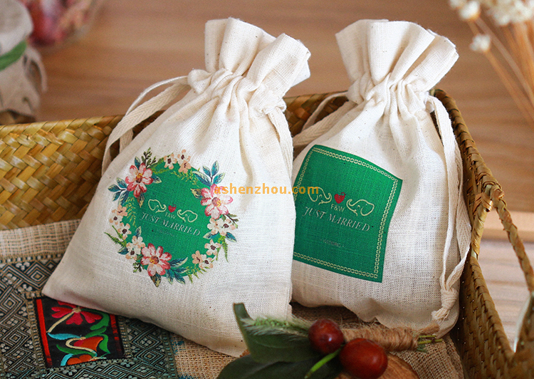 Special design cheap custom natural burlap material muslin drawstring gift pouches bulk
