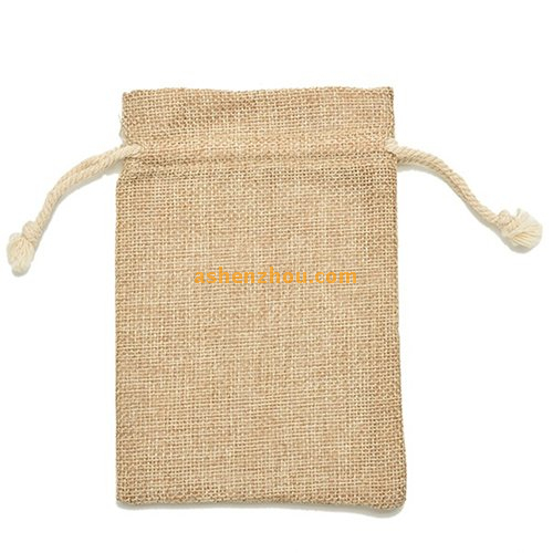 Hot sale eco-friendly high quality custom printing eco friendly natural burlap material bags with drawstring for storing wholesale