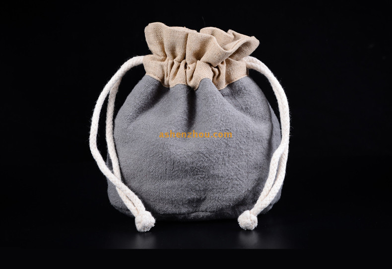 China supplier wholesales custom durable eco friendly burlap drawstring bags in bulk