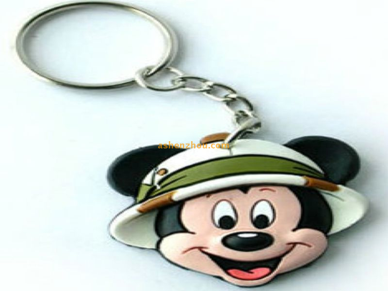 Wholesale High quality custom unique personalized 3D PVC cute rubber keychains with logo printed