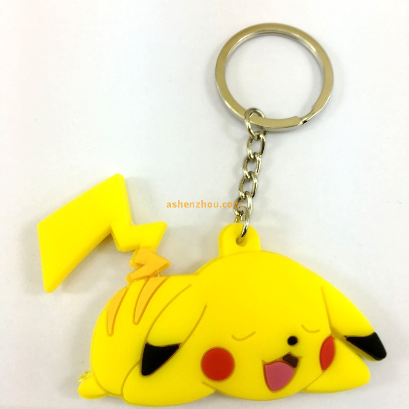 Wholesale custom personalised cheap PVC keychains online with large key rings