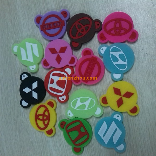 Hot selling Customized Silicone Practical keychains customized logo printed mini personalized coin key chain for gift