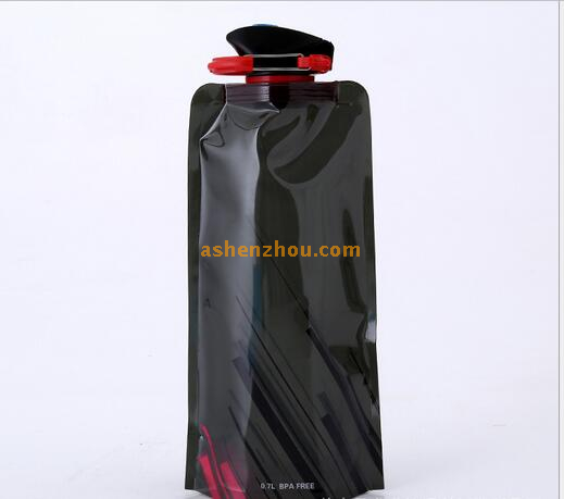 Outdoor BPA Free portable plastic collapsible silicone foldable sport water bottle