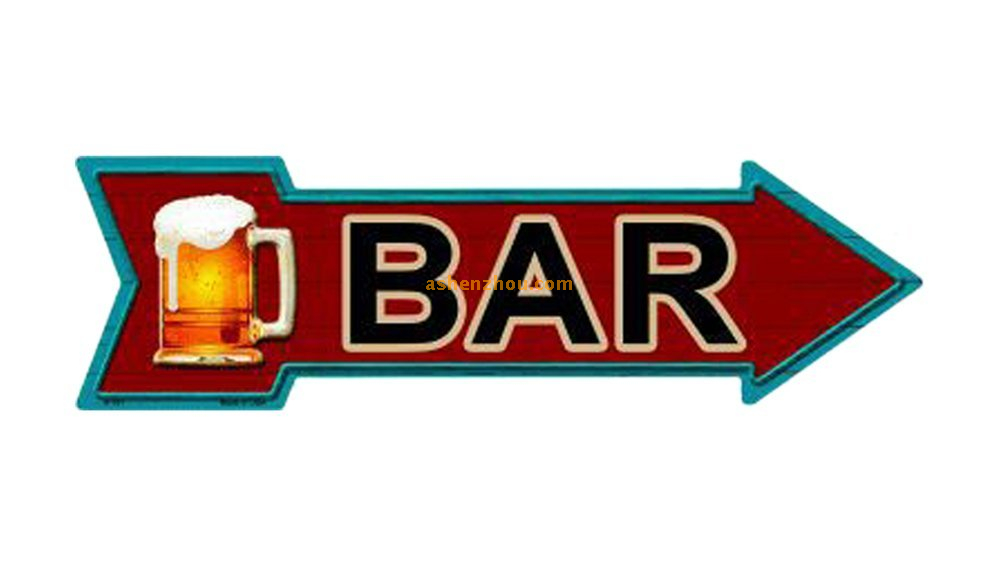 Custom funny directional metal art wall retro signs text board for pub for sale