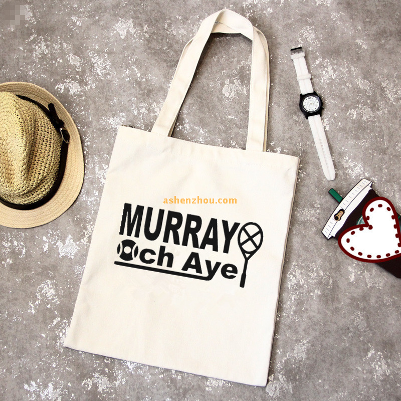 Promotional recycled custom printed logo durable natural cotton canvas fabric bags with tote