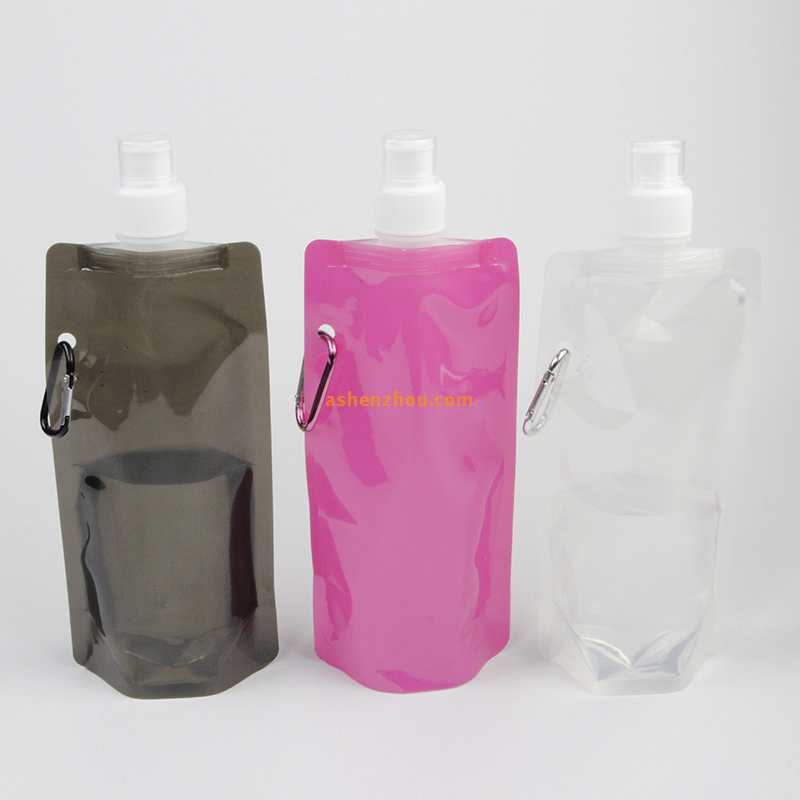 Food grade aseptic fruit infuser plastic folding bicycle water bottle portable foldable sport bottle