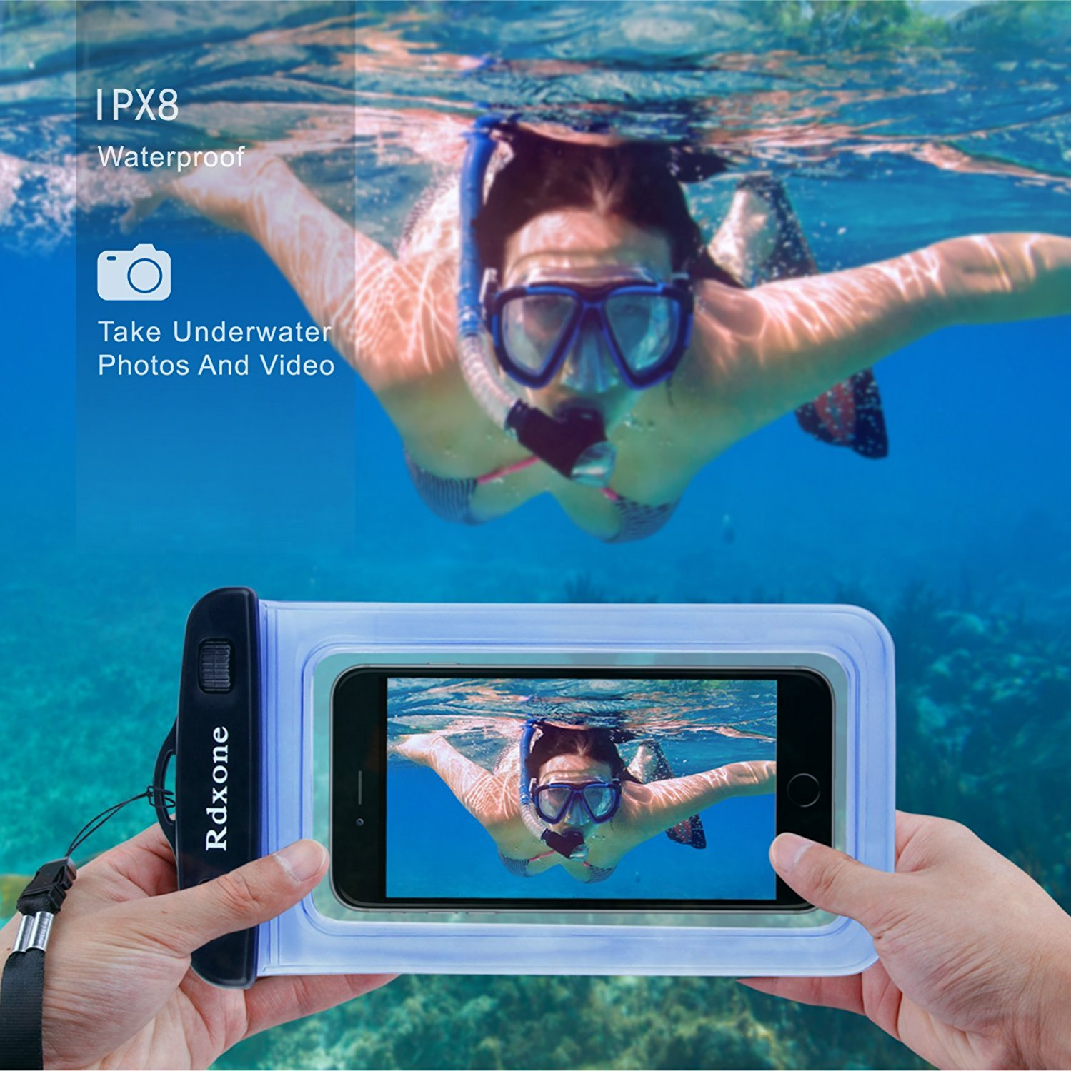 Best waterproof phone bag, universal waterproof phone case dry bag perfect for iPhone 7 plus, 7, 6s, 6s Plus, 6, 6 plus, Samsung Galaxy S8 S7 S6, Moto G5, LG, etc