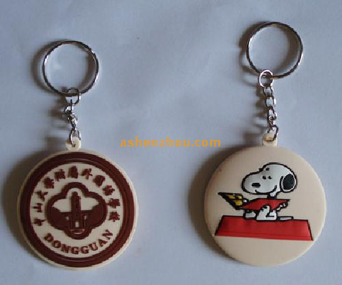 Promotional Items Cheap Small Gifts Funny Customizable Rubber Keychain Wholesale
