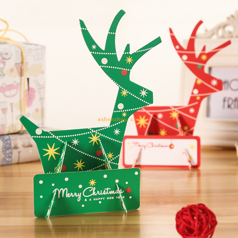 Christmas cards 3D laser cut pop up handmade postcards custom greeting cards Merry Christmas festival gift card