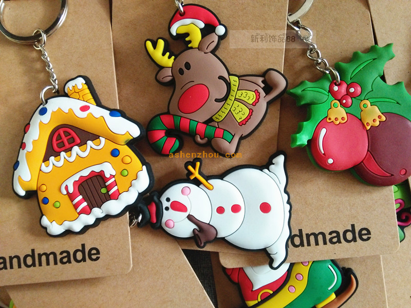 Cute custom christmas key chain cartoon key chain
