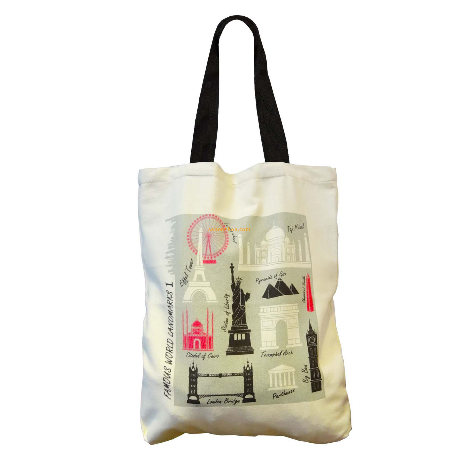 Top quality new fashion custom personalized canvas beach tote bags