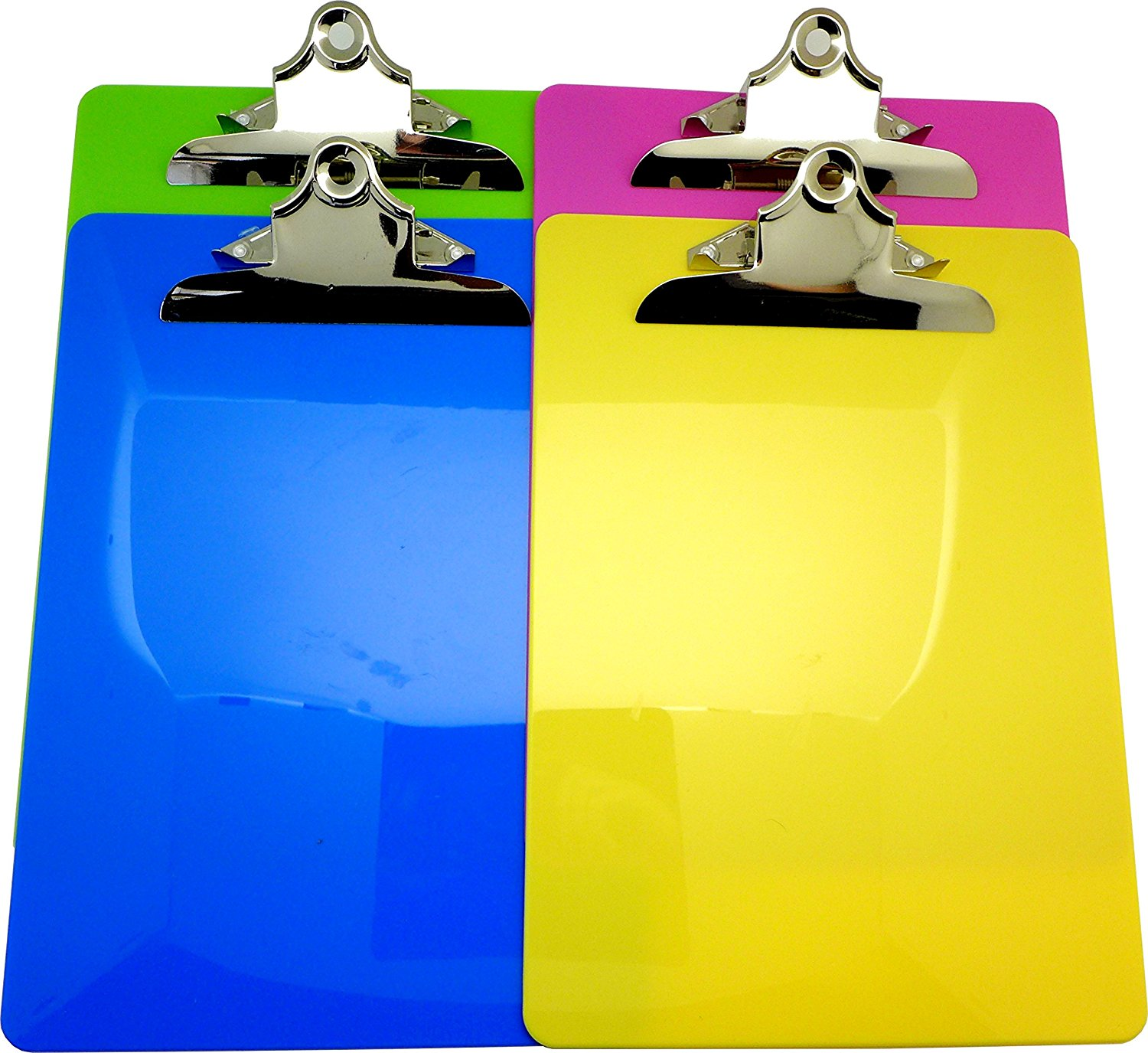 High quality custom color A4 A5 FC size flexible PP foam plastic clip board with butterfly clip