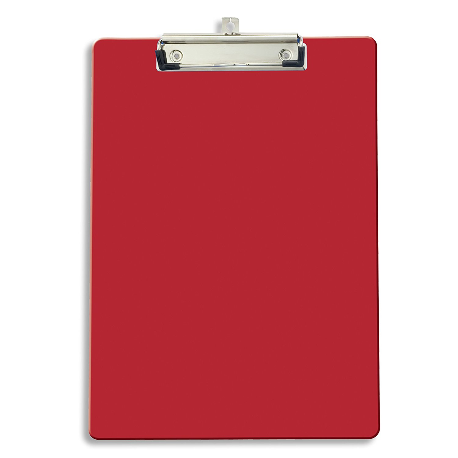 Low price custom standard size high transparent color flexible plastic clipboard with metal clip for office use