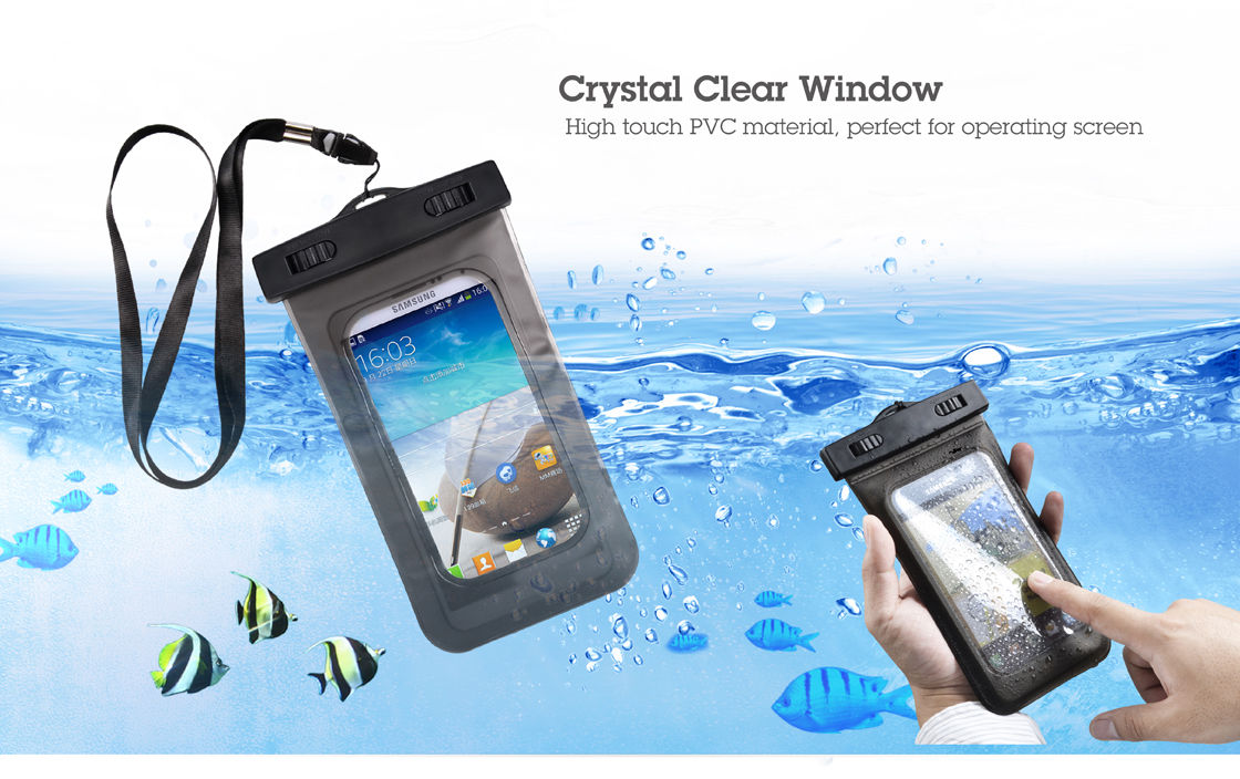 PVC mobile phone waterproof bag custom cell phone waterproof case pouch cover for Iphone 6 /6s /6 Plus /6s Plus / Samsung / HTC