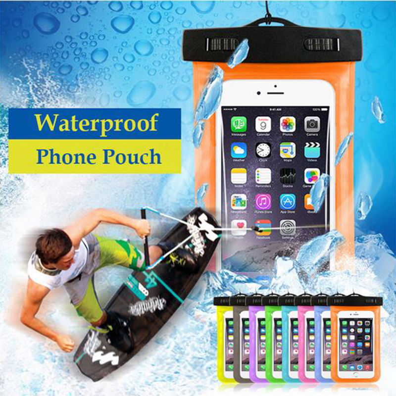 Best waterproof cell phone case, heavy-duty universal waterproof phone case iPhone 6S 6 7 Plus custom waterproof phone bag pouch
