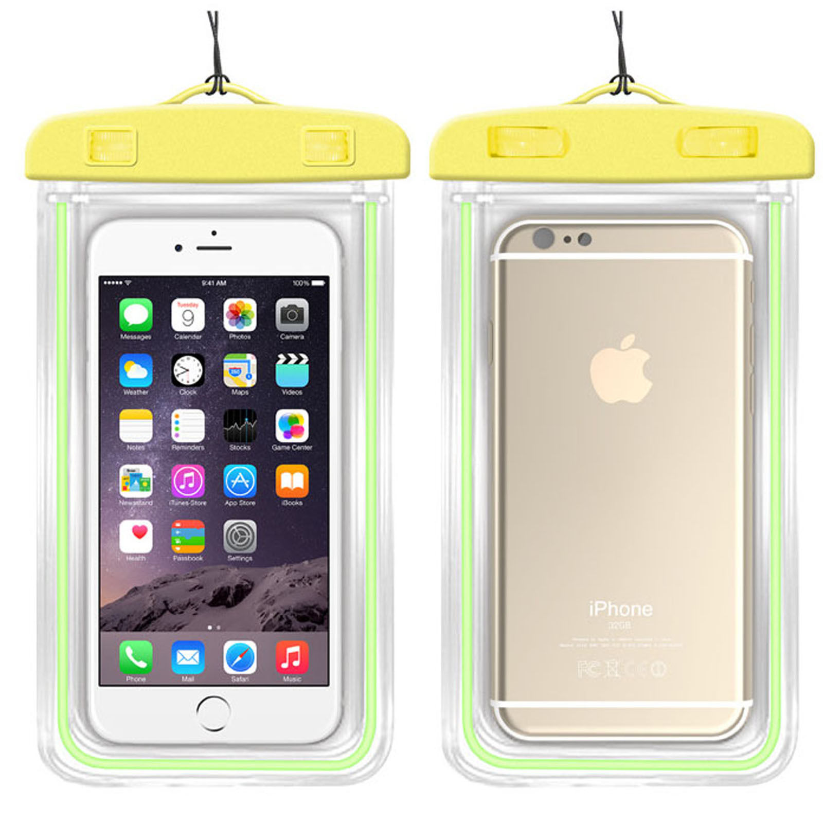 Waterproof phone case for iphone 6s, universal transparent PVC waterproof mobile phone case with armband for iphone 7 6 Plus samsung S8