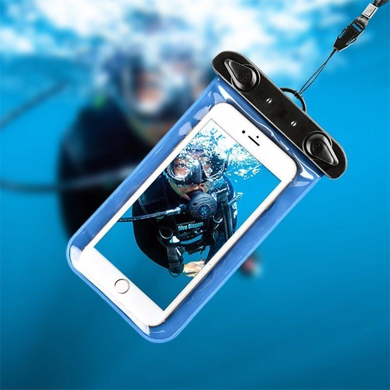 Underwater phone bag 100% sealed plastic pouch waterproof phone bag case diving mobile bag pouch for iPhone Samsung cell phone