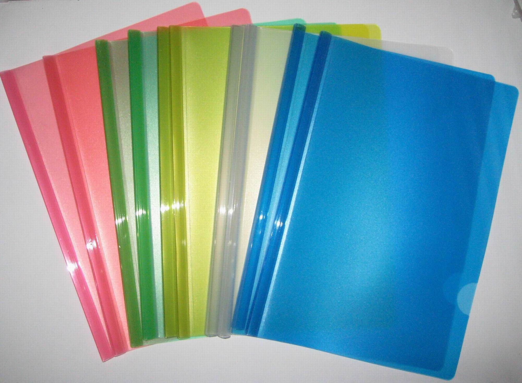 Factory price good quality custom A4 different colour stationery siling bar slide binder folder report cover