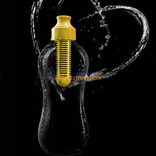 Water bobble sport filter water bottle, purified water bottle with active coal