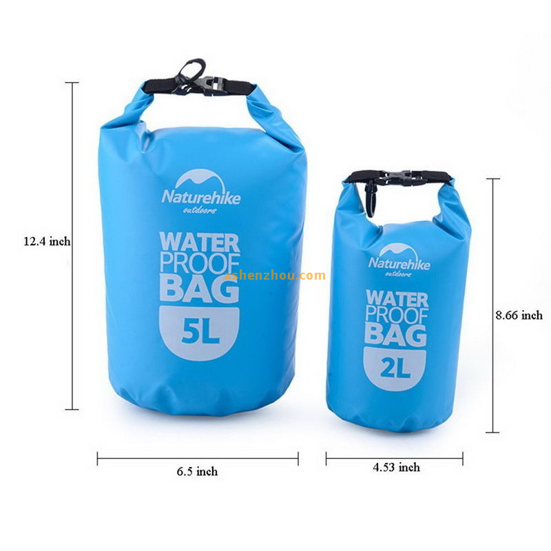 2/5L Sports waterproof dry bag - roll top dry compression sack keeps gear dry for beach, kayaking, diving, rafting, boating, hiking, fishing and camping