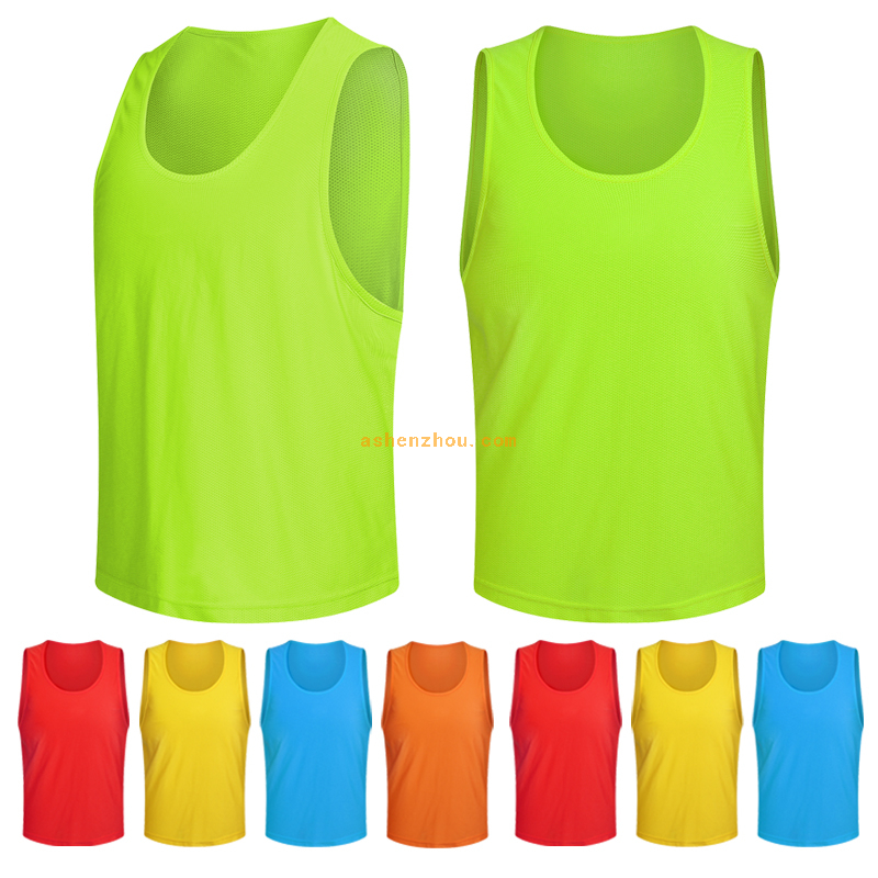 Low price custom logo multiple colors breathable sport mesh soccer football training vest bibs