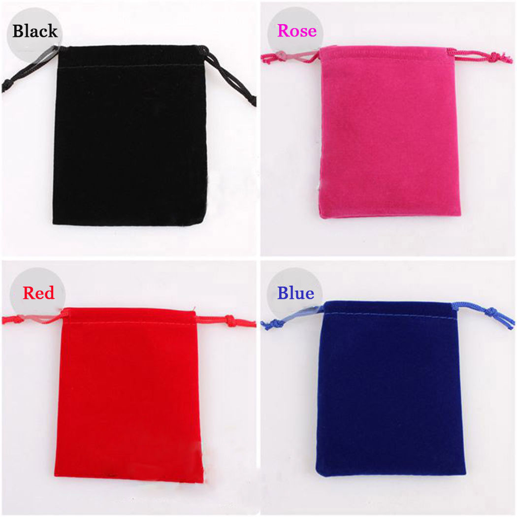 SHENZHOU Factory wholesale recycled satin jewelry bulk pouches drawstring velvet jewelry gift bag