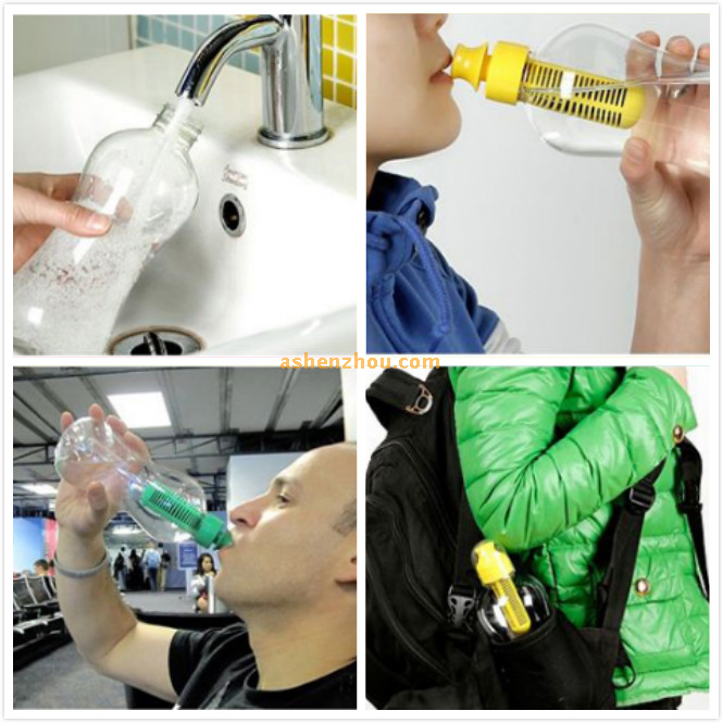 550ml shaker plastic bobble water filter bottle, activated carbon filter water bottle, welcome to dorder
