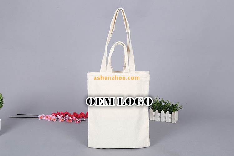Hot sale eco-friendly recycled cheap custom printed different colors pattern printing on shopping cotton canvas material cloth bags with long tote wholesale