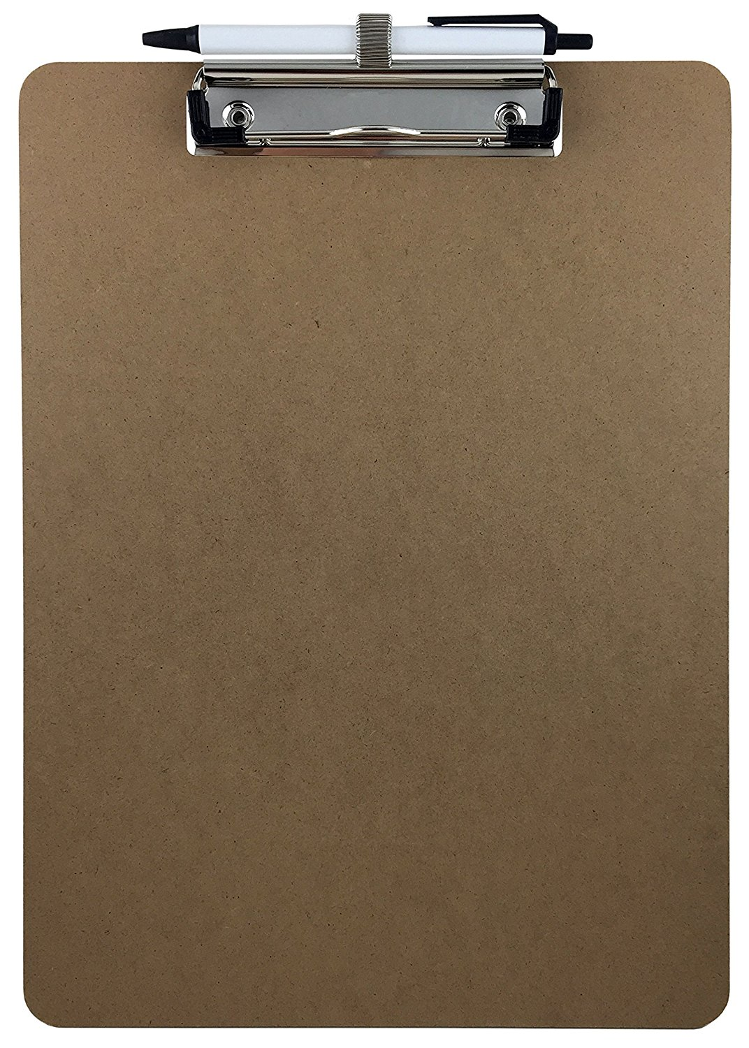 Superior quality custom A4 size durable wooden clipboard with pen, paper hardboard, one side clipboard