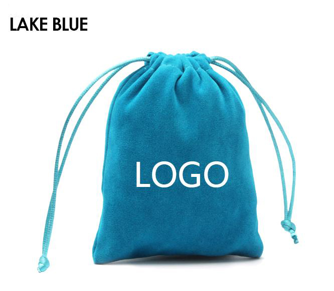 Wholesale Custom Eco-friendly convenient colorful small jewelry storage velvet pouches with drawstring pouches for jewelry