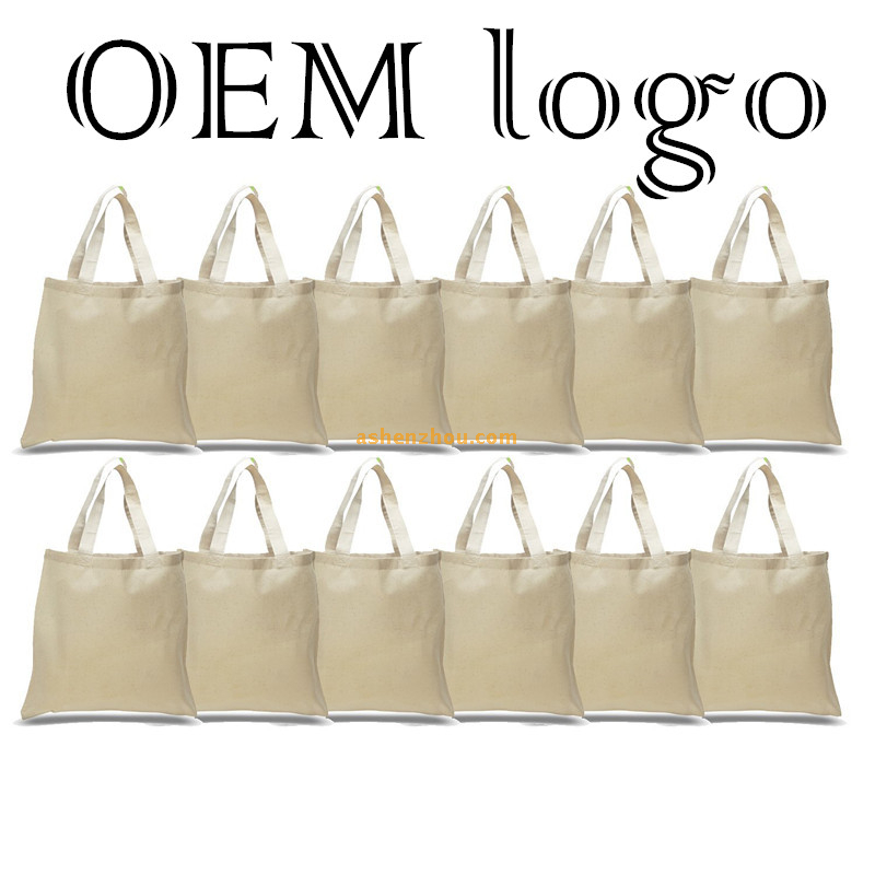 China factory wholesale price custom eco-friendly natural soft cotton carrier bag shopping tote fabric bags