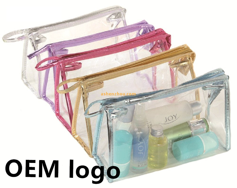 Wholesale price custom mini cute little clean PVC material zipper storing bags