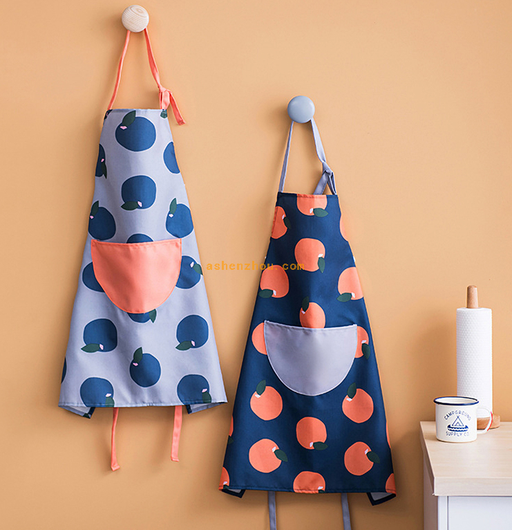 Newest design custom logo adjustable cooking non woven fabric cotton apron blank apron