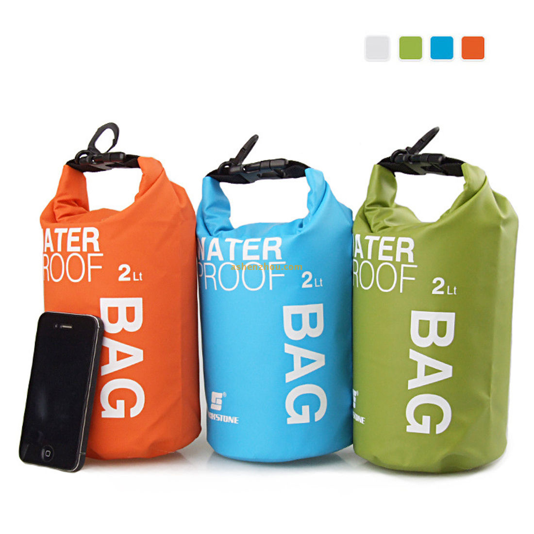 Roll top waterproof floating duffle dry gear bag, waterproof dry bag with adjustable shoulder straps for boating, kayaking, fishing